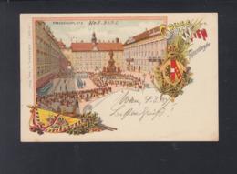 KuK Litho-AK Franzensplatz 1893 Gelaufen - Wien