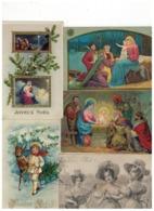 Vrolijk Kerstfeest Joyeux Noël  22 Oude Postkaarten,de Meeste Gezegeld En Geschreven Begin 1900 - Cartes Postales