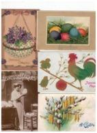Vrolijk Paasfeest Joyeuses Pâques! 15 Oude Postkaarten,de Meeste Gezegeld En Geschreven Begin 1900 - Cartes Postales