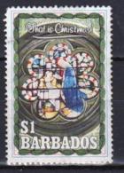 Barbados Single $1 Stamp From The 1990 Christmas Series. - Barbados (1966-...)