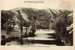 A Voir Cp 23 Vallee De La Tardes Paysage Des Mines D'Or Du Chatelet 1932 Edition B.Laville Montlua§On - Chambon Sur Voueize