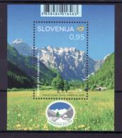 3333 Slowenien Slovenia 2019 ** MNH Block  Nature Park Logar Valley Alpe Alps Alpen Alpe Mountain - Geographie