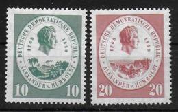 DDR 1959 684 - 685 Von Humboldt - [6] Democratic Republic