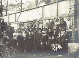 LIEGE 1912 PHOTO Originale (22 X 16,5 Cm) Pose De La Première Pierre Du Palais Des Sports (Bd De La Sauvenière) - Places