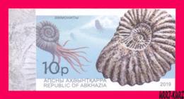ABKHAZIA 2019 Fauna Marine Shell Fossils Extinct Cephalopods Ammonites Archaeology 1v Imperforated MNH - Marine Life