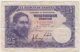 @Y@  Espana / Spanje / Spain   25 / 1954   Serie F  Circulatie - Billets