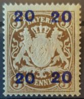 BAVARIA 1920 - MLH - Mi 177 - Overprint - Bayern (Baviera)