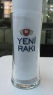AC -  YENI RAKI SEFIM BANA BI TEK GONDERSENE GLASS FROM TURKEY - Glazen
