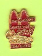 Pin's Mac Do McDonald's Guadeloupe Jetski Kawa Team Green - 7V28 - McDonald's