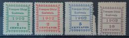 GUATEMALA 1902 - MLH - Sc# O1, O2, O3, O4 - Officials 1c 2c 5c 10c - Guatemala