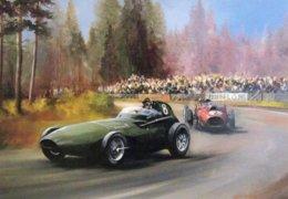 Vanwall - Ferrari -  Grand Prix  -  Automotive Art Postcard - Carte Postale Modern - Grand Prix / F1