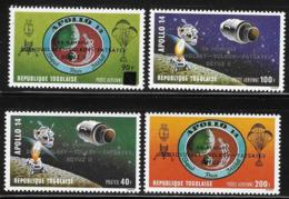 Togo 1971 Space Soyuz II Overprinted MNH - Togo (1960-...)
