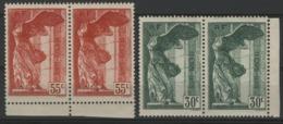 """N° 354 + 355, Chacun En Paire, 55ct Rouge Et 30ct Vert """"Musées Nationaux"""". Voir Description - Francia"""