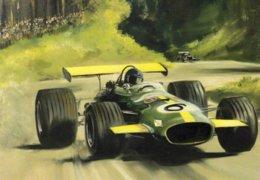 Lotus  -  Grand Prix  -  Automotive Art Postcard - Carte Postale Modern - Grand Prix / F1