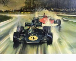 Lotus JPS - Ferrari  -  Grand Prix  -  Automotive Art Postcard - Carte Postale Modern - Grand Prix / F1