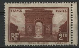 """N° 258 , 2F Brun Rouge """"Arc De Triomphe"""". Voir Description - France"""