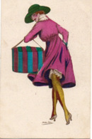 Illustrateur Max Fau, Femme Mode Boite à Chapeaux - Altre Illustrazioni