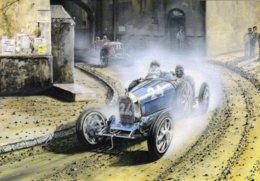 Bugatti T35  -  Grand Prix  -  Automotive Art Postcard - Carte Postale Modern - Grand Prix / F1