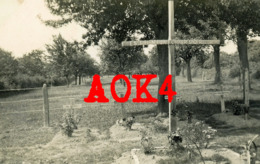 59 Nord LOUVIGNIES QUESNOY 1940 Wehrmacht Tombes Allemandes Cimetiere Panzer Nordfrankreich Foret De Mormal Bourdon - Guerra, Militari
