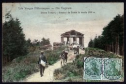 Grandfontaine Donon Vosges Tempel Sommet  Le Musée 1008m 18/05/1913 Timbres Allemands Tampon Restaurant  Voir Explic - Francia