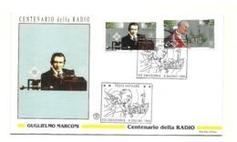 1995 - Vaticano 1025/26 Centenario Della Radio      FDC - Telecom