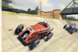Blower Bentley At Brooklands  -  Grand Prix  -  Automotive Art Postcard - Carte Postale Modern - Grand Prix / F1