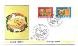 1995 - Vaticano 1010/11 Europa      FDC - Europa-CEPT