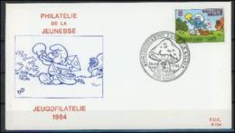 Belgique 1984 Mushrooms  Champignons Schtroumfs FDC - Champignons
