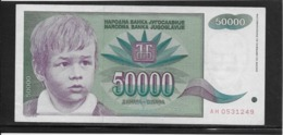 Yougoslavie - 50000 Dinara - Pick N°117 - SPL - Yugoslavia