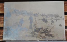 CARTE PHOTO AU MONT REVARD 1914 EN SKI UNE BUCHE - Autres Communes
