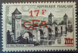 RÉUNION / CFA 1957/59 - MNH - YT 339 - 17F - La Isla De La Reunion (1852-1975)