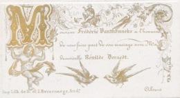 PORSELEINKAART CARTE PORCELAIN 13 X 9 CM - MARIAGE DE FREDERIC VANTHEMSCHE AVEC RENILDE DERAEDT - Wedding