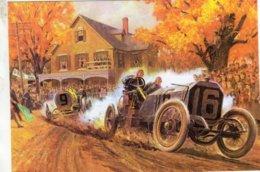 Vanderbilt Cup Race  -  Artwork Peter Helck  -  Automotive Art Postcard - Carte Postale Modern - IndyCar