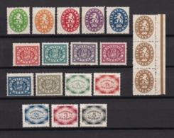 Bayern - 1920 - Dienstmarken - Michel Nr. 44/55+57/61 - Ungebr./Postfrisch - Bavaria