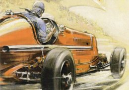 Fiat Grand Prix  -  Automotive Art Postcard - Carte Postale Modern - Grand Prix / F1