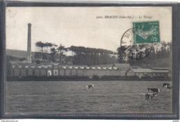Carte Postale 76. Brachy  Usine De Tissage Très Beau Plan - France