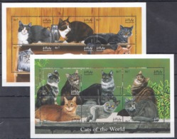 O611 MALDIVES FAUNA PETS CATS OF THE WORLD 2KB MNH - Domestic Cats