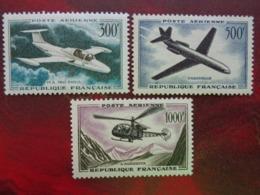 1957-59 - Y&T P.A. N° 35 à 37 * - PROTOTYPES - 1927-1959 Nuevos