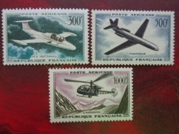 1957-59 - Y&T P.A. N° 35 à 37 * - PROTOTYPES - Posta Aerea