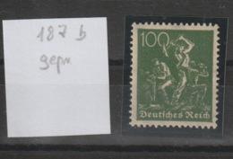 DR MNr. 187 B Postfrisch **/MNH.  Geprüft - Deutschland