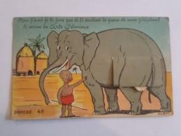 Exposition Des Arts Coloniaux - Carte à Système Complète Illustrée Par Clem N°48 - Éléphant - Delboy Fabricant - Expositions