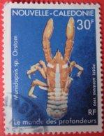 Nouvelle Calédonie Poste Aérienne Le Monde Des Profondeurs Poste 1990 - Usati