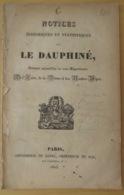 GÉOGRAPHIE- PROSPECTUS DES NOTICES HISTORIQUES ET STATISTIQUES SUR LE DAUPHINÉ 1825 - Geographie