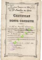 CERTIFICAT DE BONNE CONDUITE - 1926 - ARMEE FRANCAISE DU RHIN - 42ème BATAILLON DU GENIE - SAPEUR RADIOTELEGRAPHISTE - Documents