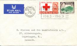 Rhodesia & Nyasaland Cover Salisbury 18-9-1963 Sent To Denmark - Rhodesia & Nyasaland (1954-1963)