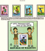 YEAR INTERN. OF CHILD - MALDIVE  - Mi. Nr. 822/825 + BF 57 - NH - (6532-3.) - Maldive (1965-...)