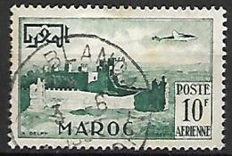 MAROC     -    Poste Aérienne   -   1952 .  Y&T N° 85 Oblitéré.   Avion - Marruecos (1891-1956)