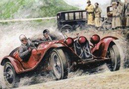 Alfa Romeo 6C 1750  -  Mille Miglia  -  Automotive Art Postcard - Carte Postale Modern - Le Mans