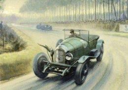 24 Heures Du Mans  -  Bentley At Mulsanne  -  Automotive Art Postcard - Carte Postale Modern - Le Mans