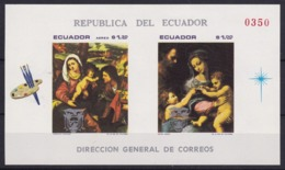 Ecuador.1969** MI:  Block 54 Gemälde Aus Dem Marienleben - Christianity